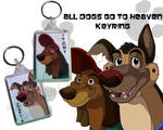 All Dogs go to Heaven keyring