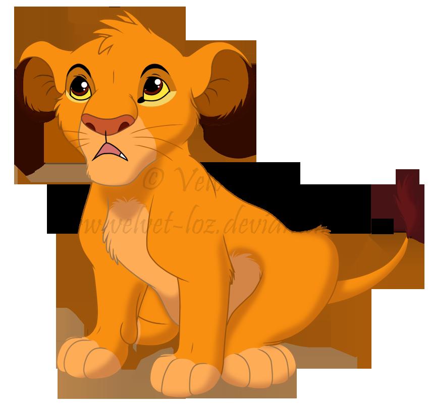 Cartoon Characters Lion King : Simba by velvet loz on deviantart