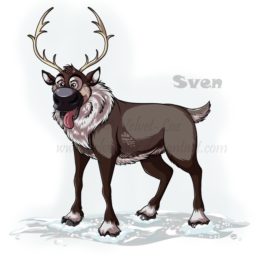 Disney's Frozen: Sven by Velvet-Loz