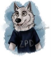 Zootopia: wolf cop by Velvet-Loz
