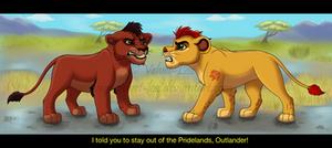 Lion Guard: Kovu and Kion by Velvet-Loz