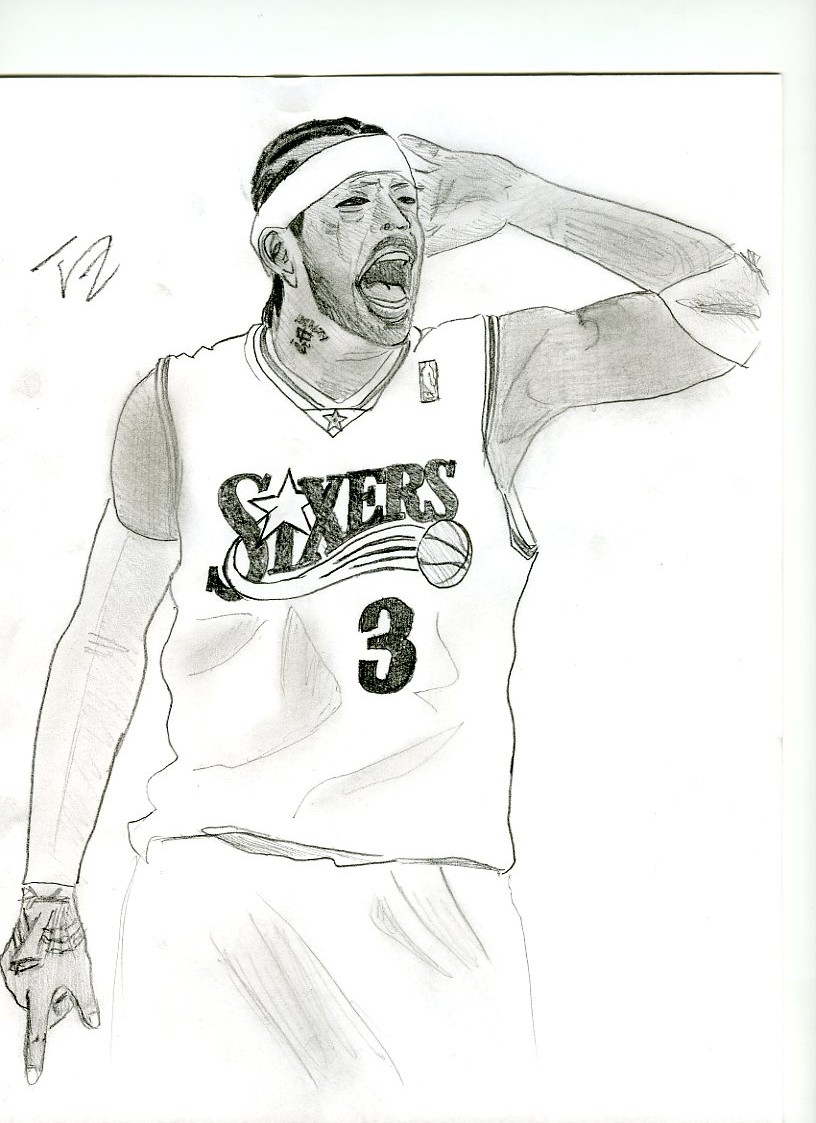coloring pages of allen iverson-#2
