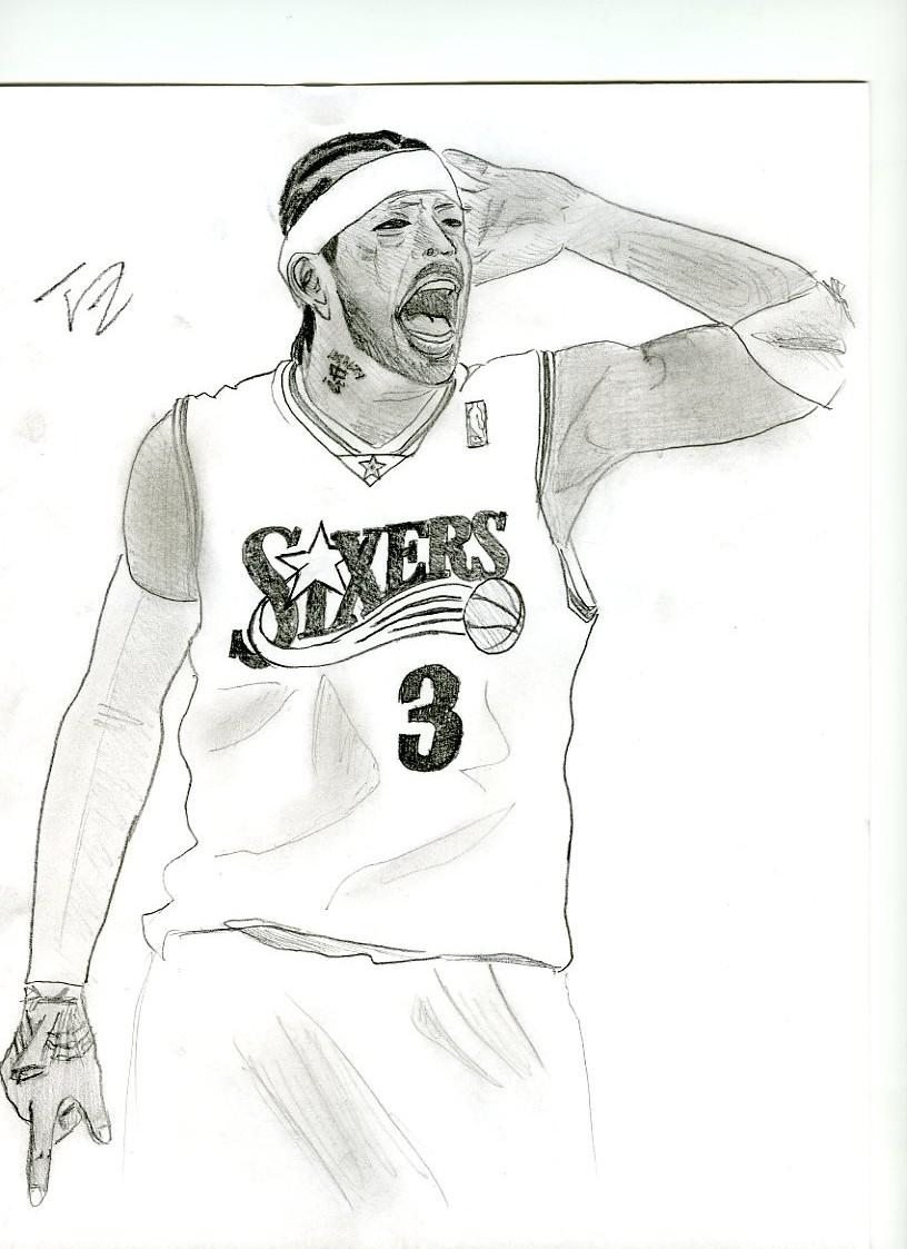 allen iverson coloring pages - photo#2