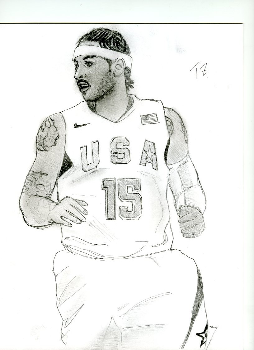 Carmelo Anthony Team Usa By Teddylicious on carmelo anthony coloring pages