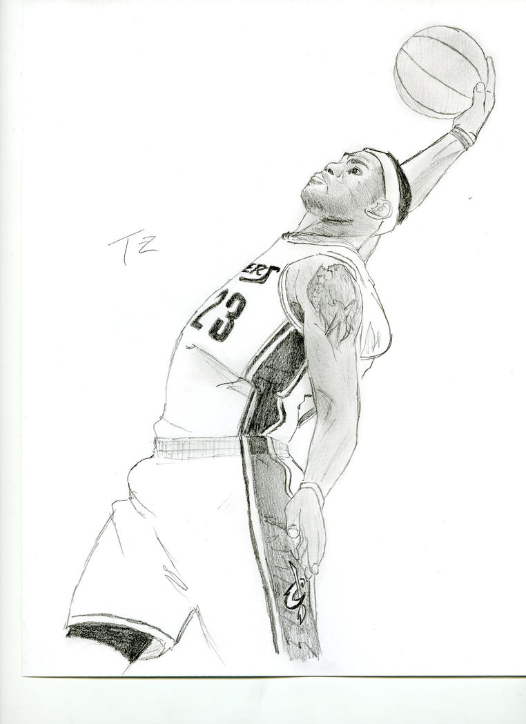 How to draw lebron x the king lebron james by