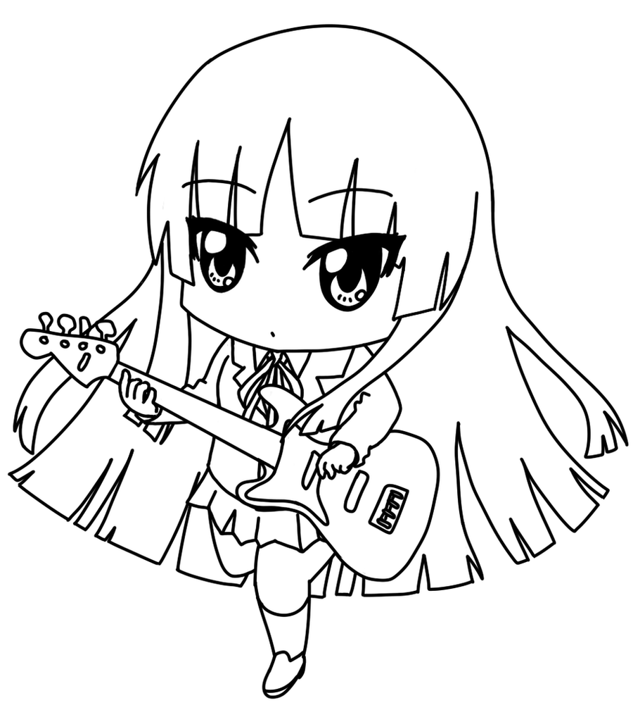 free coloring pages anime characters | Chibi Mio by Pepperoach on DeviantArt