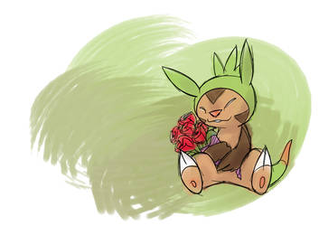 Chespin with Roses by Pepperoach