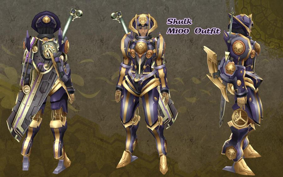 Xenoblade - Shulk M100 Outfit by dsync89 on DeviantArtXenoblade Chronicles Shulk