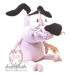 Courage the Cowardly Dog Plush by kaijumama