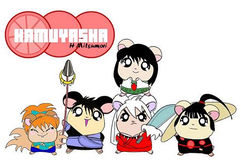 Inuyasha Group as Hamster by kaijumama