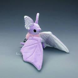 Pastel Goth Cotton Candy Bat Plush by kaijumama