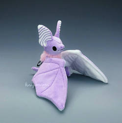 Pastel Goth Cotton Candy Bat Plush