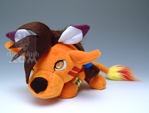 Final Fantasy Red XIII Plush by kaijumama