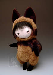 Tanuki Raccoon Dog Plush Doll by kaijumama