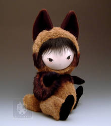 Tanuki Raccoon Dog Doll Sit by owlindreams