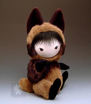 Tanuki Raccoon Dog Doll Sit