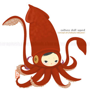 Culture Doll Giant Squid Art