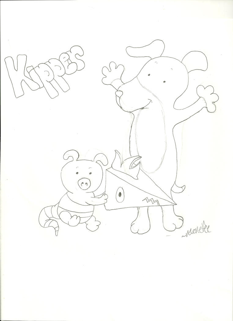 Kipper the dog by cairue on deviantart for Kipper the dog coloring pages
