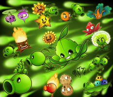 Pvz bunch of plants, featuring Appease-mint family