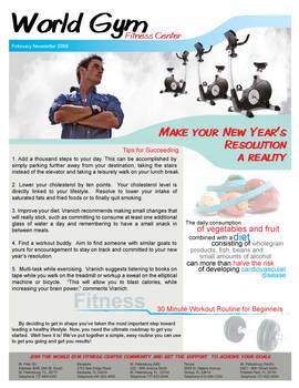 Gym Newsletter