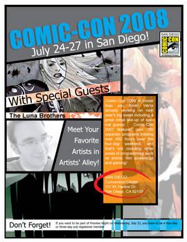 Comic Book Flyer