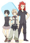 Roxas, Axel, And Xion