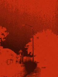 Night Scene In Crimson