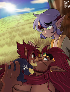 Baby Drako and his Parents.