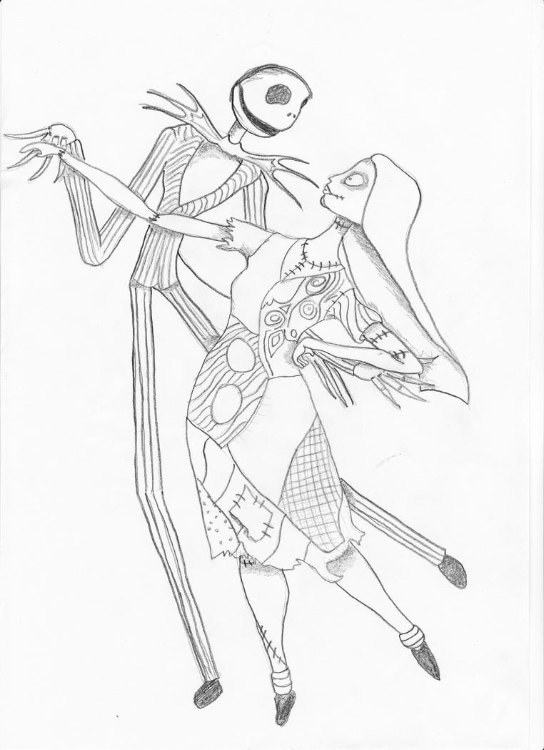 Jack skellington colouring pages page 2 - Jack Skellington And Sally Coloring Pages
