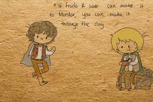 Frodo And Sam by ChazzyLlama