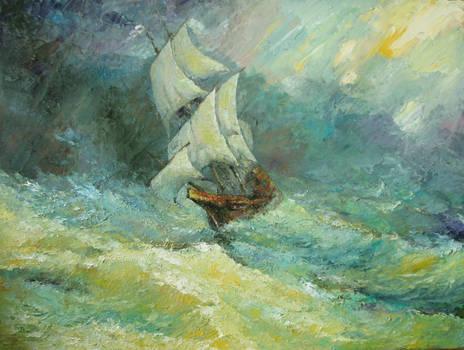 Through storm