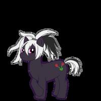 V Flower as a pony