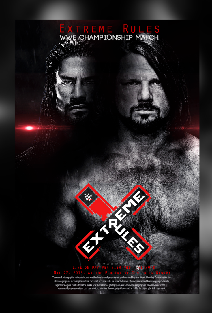 AJ Styles vs Roman Reigns - Extream Rules by WeeDyZz