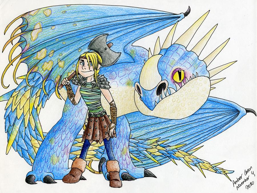 Astrid And Her Deadly Nadder By CavySpirit On DeviantArt