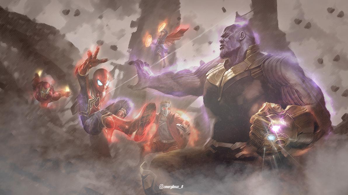 Avengers Thanos Titan Wallpaper By YLMZDESIGN