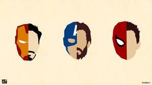 Iron Man - Captain America -  Spider Man Wallpaper