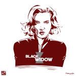 Black Widow Vector ART -RED