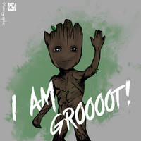Baby Groot Vector Art
