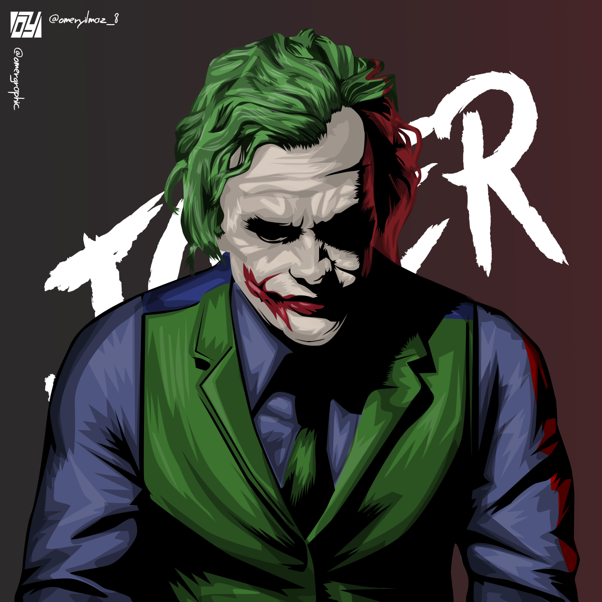 Joker Heath Ledger Vector Art By Ylmzdesign On Deviantart