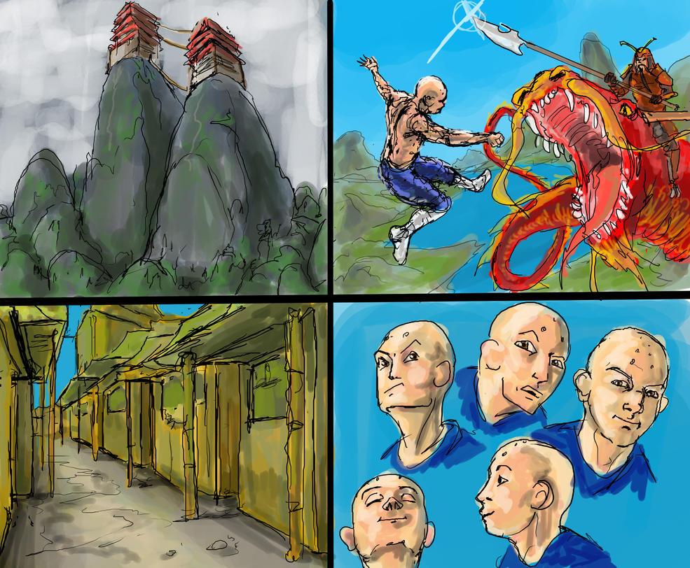 Monk Sketches by 08yo8387