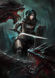 Serpent Slayer by aaronflorento