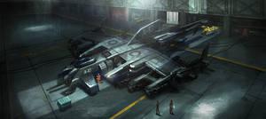 Sci Fi Ship Hangar2