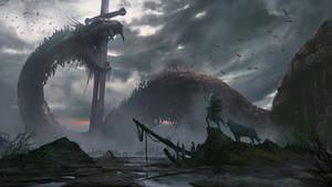 Jormundra's Carcass by aaronflorento