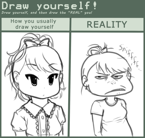 Draw Yourself Meme By SweetDaYo On DeviantArt - Hairstyle drawing meme