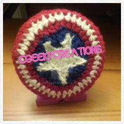 Captain America shield Button