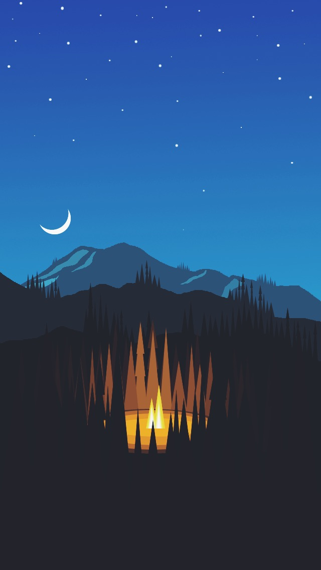 Iphone 6 Wallpaper Exact Res Forest Night Minimal By Noahsilliman On