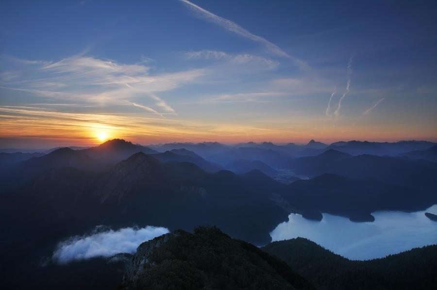 Walchensee Sunrise by Devlicharov