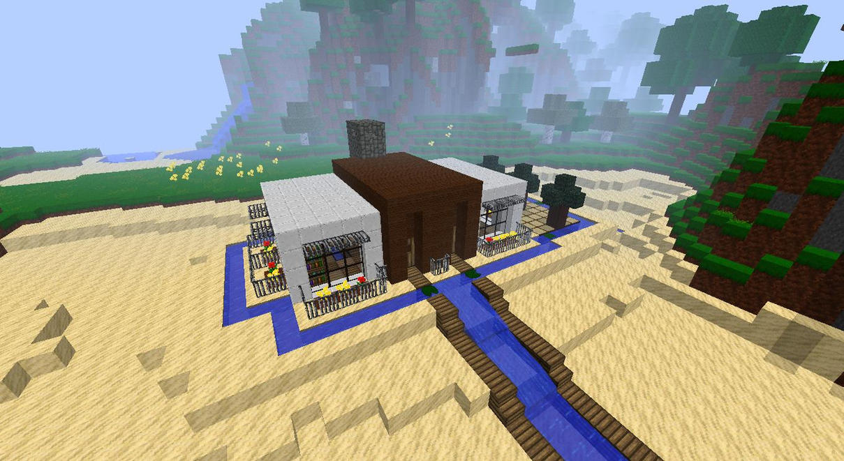 Minecraft Beach House Build Kawii Pe Small