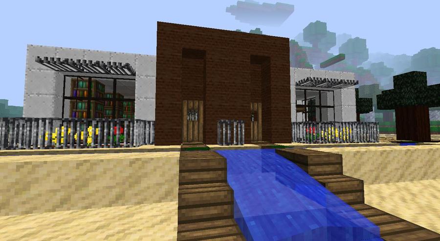 My Minecraft Beach House Close Up By Lilgamerboy14 On