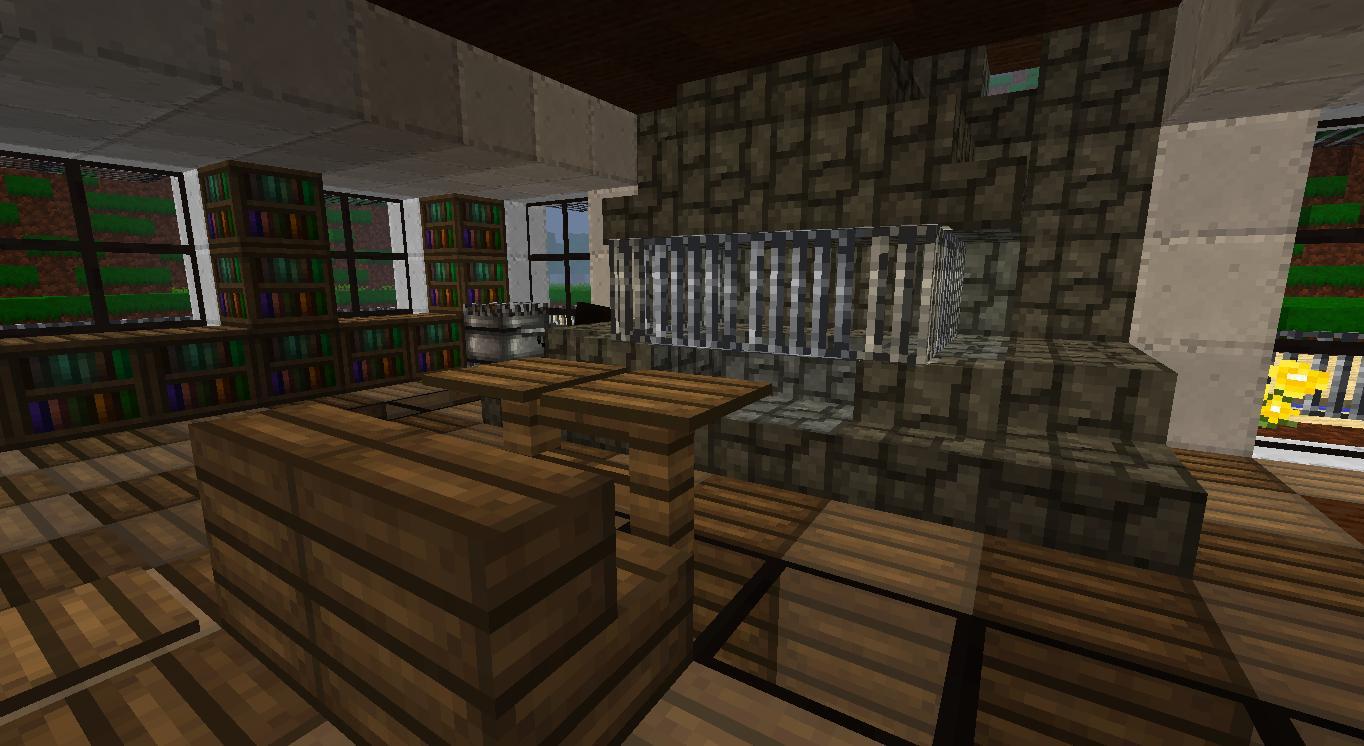 My minecraft beach house interior by lilgamerboy14 on for Beach house designs minecraft